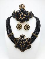 Cheap High Quality Fashion Nigerian Wedding African Beads Jewelry Sets Dubai Gold Plated Jewelry Sets 18K Costume Romantic Long Design