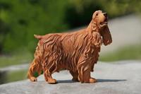 Precio de Perros perro de aguas-Auto decorativos Resion manualidades Siumlation Modelo De Cocker Spaniel preciosos animales Perro Espaognol giftwares al por mayor de animales