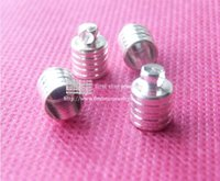 Cheap silver plated cap fit for 6mm glass bottle or end ap of round leather cord  100pcs