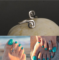 Wholesale Alloy Toe Rings For Women Vintage Foot Finger Beach Rings Jewelry New Fashion Drop Shipping Antique Silver Plated Infinity Rings SR388