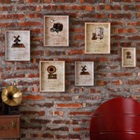 Wholesale Retro Creative Home Interior Decorative Wall Hangings Personalized Cafe Tea Shop Soft Furnishings Love Frame Photo Frame Wooden kader GJ51