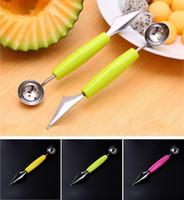al por mayor de verduras tallado de frutas-100pcs multifuncionales herramientas de frutas vegetales talla melón cortador cucharadas Ballers accesorios de cocina de acero inoxidable de gadgets