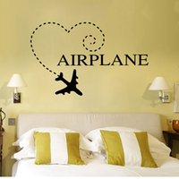 airplane bathroom - high quality Creative Personality Vinyl Airplane Removable Waterproof Home Bedroom Wall Sticker
