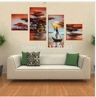 african rivers - modern ABSTRACT landscape oil painting on canvas wall art african RIVER pictures for living room decoration
