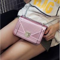 Wholesale 2016 New Fashion Women Shoulder Bag Chain Strap Flap Messenger Handbags With Metal Buckle Mini Small Bag