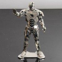 american model kits - Superhero Iron man d Laser Cut Building Metal Model Kit Metallic Nano Puzzle American Educational DIY Assembling Toy
