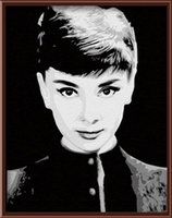 audrey hepburn paintings canvas - Fashion X50cm Frameless DIY Digital Oil Canvas Painting Audrey Hepburn by Numbers Kits with Pigment Home Decor Wall Decor