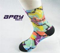 Wholesale APYE Mens sports leisure socks comfortable compression socks for men color men summer elite socks for outdoor running