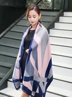 authentic scarf - Hot sales Europe women s Plaid Scarf soft Cashmere scarf Original brand Authentic top quality large stripe x70cm Tartan Christmas gift
