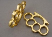 Wholesale 2016 new Safety Products GILDED THICK THICK mm STEEL BRASS KNUCKLE DUSTER color Gold plating silver