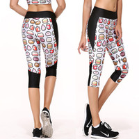Running activewear capri - YIWU LAIMAI High Waist Band Side Pocket for Phones KEYS Running Shorts Women s Capris Printed Capri Leggings Activewear