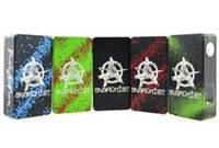 aluminum battery box - 2016 Anarchist Box Mod V2 Tuglyfe Unregulated Splatter Aluminum Dual Battery OLED Display Mechanical Vapor Mods DHL Free TZ677