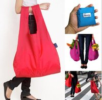 Wholesale Fashion Foldable Waterproof Storage Eco Reusable Shopping Folding Tote Bags Quality Large Shopping Bag Pouch Multi Color
