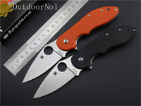 Wholesale High Quality Spyderco C172 Bearing Fruit Knife Camping Tool One Hand Operated Outdoor Household cr18mov Material pocket knife EDC tools