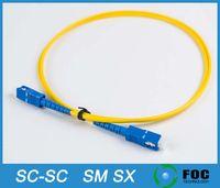Wholesale SC SC Customizable fiber optic patch cord Meter Singlemode SM Simplex SX PVC mm fiber optic cable fiber optic jumper