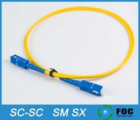 Wholesale SC SC Fiber Optic Patch Cord M Optional length PC APC UPC Single mode SM Simplex PVC mm fiber optic cable fiber optic jumper