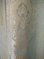 Wholesale Luxuriant emulation silk and elegant european style jacquard curtain