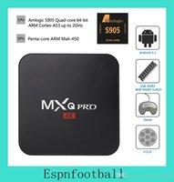 Wholesale Amlogic S905X RK3229 MXQ Pro K Android Digital TV Streaming Box Quad Core Android DDR3 G Nand Flash G HDMI Kodi Box pc