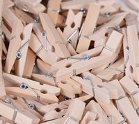 Wholesale 500PCS Mini Wood Clips Clothespin Clips for Photo Paper Handicrafts Photos Papers Clothes Pegs Home Decoration