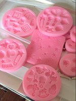 baby stencils - DIY Pink stencils for cake and cookies of cm Dia lovely baby design fodant cupcakes