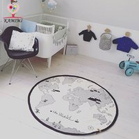 baby bedding world - Baby Round game blanket World Map Print Soft baby Bedding Swaddling Kids Room Decoration Lovely Cartoon play Adventures Crawling Carpet