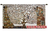 Wholesale Huge Tree of Life Full Version Gustav Klimt Art Tapestry Wall Hanging Home Decor Gift Cotton Jacquard Woven x cm
