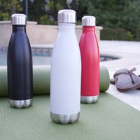 Wholesale Cola Shaped Insulated Double Wall Vacuum Stainless Steel Water Bottle Creative Thermos bottle Vaccum Insulated For Cold or Hot Drinks ml
