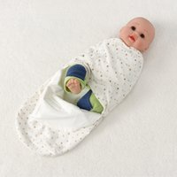 Wholesale hot sale double layer newborn baby swaddle sleepsacks wrap infants baby sleeping bags