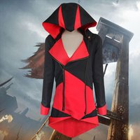 assassin dress - Costumes Cosplay Dress Assassins Creed III Conner Kenway Hoodie Coat Jacket Cosplay Costume Overcoat For Amazing Cosplayers