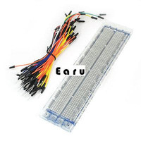 Wholesale Clear Plastic Tie Point PCB Prototype Solderless Breadboard w Jumper Wire