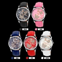 battery child - 2016 US time child wristwatch girl girls genuine leather waterproof watch luminous watches female for students