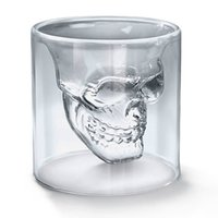 Wholesale NEWCreative Designer Skull Head Shot Glass Fun Doomed Transparent Party Doom Drinkware Gift for Halloween