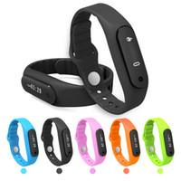 apple timers - 2016 Waterproof Smart Watch E06 Smart Wrist band Bluetooth Pedometer Health Fitness Tracker Bracelet support BT self timer Calls Reminding
