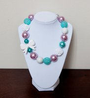 Wholesale 2016 white bow necklace white purple and blue color mixed necklaces toddler necklace
