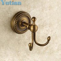 antique clothes hooks - Robe Hook Clothes Hook solid brass Construction with antique brass finish Bathroom hook YT
