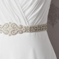 active ribbon - New Wedding Accessories Belt Fashion Handmade Crystal Rhinestone Bead Ribbon Wedding Belt Bridal Sash For Evening Dress Party Dress CPA532