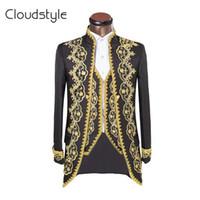 Wholesale 2016 Luxury Classic Embroidery New costume homme Wedding Suit For Men Brand Clothing Tuxedo Suits Slim Fit Jacket Pants Vest XL
