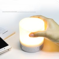 baby speakers - 2016 Smart emotion Bluetooth Speaker support TF card color changeable LED lighting Lamp for Baby Bedroom built in Battery