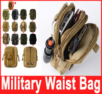 Wholesale Military Outdoor Waterproof Nylon Tactical Waist Fanny Pack Belt Bag EDC Camping Hiking Travel Sports Pouch Wallet Phone Bag Hot Selling