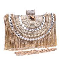 banquet bag - fashion diamond crystal evening handbag High class Club banquet bride ladies luxury bag evening clutch bags with rhinestone chain