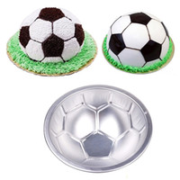 aluminum molds - 200pcs D Football Molds Aluminum Alloy Cake Baking Pan Cake Molds Bakeware Loaf Pans Cake Decorating Tool ZA0963