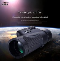 Wholesale Phone Telescope Enlarge Universal x50 Hiking Concert Camera Lens Telescope Monocular with Holder for iPhone S Plus Samsung Galaxy