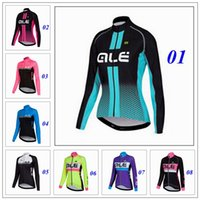 bicycle jersey design - New Design Ale Cycling Jerseys Women Road MTB Bicycle Clothing Long Sleeve Cycling Tops Autumn Style Ropa Ciclismo