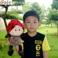 bebe gloves - Ladybug Toys Brinquedos Menina Marionnette Boneca De Cabelo Brinquedo Bebe Unissex Brinquedos Animais Da Floresta Glove Puppets