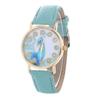 peacock flowers girl dresses - cheap beautiful peacock flower dial watch fashion women ladies girls students leather casual leisure dress watches