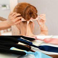 american girl hairstyle - 1 PC Fashion Women Magic Tools Foam Sponge Device Quick Messy Donut Bun Hairstyle Girl Hair Bows Band Accessories Silk Headband