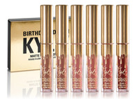 Wholesale 2016 Kylie Lord Metal Gold THE LIMITED EDITION KYLIE BIRTHDAY COLLECTION Kylie Cosmetics Birthday Edition Swatches Matte lipstick