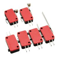 Wholesale New Micro Roller KW1 Microswitch SPDT A AC V Micro Switch Lever Red And Black