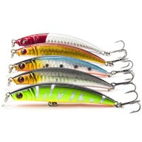 Wholesale 5pcs CM G Minnow Fishing Lure Pesca Hooks Fish Tackle Artificial Japan Hard Sinking Bait
