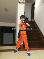 Wholesale Dragon Ball Son Goku Cosplay Costume Dragon Ball Z DBZ Cosplay Clothes for children TM35